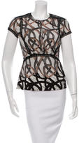Yigal Azrouel Silk Abstract Print Top