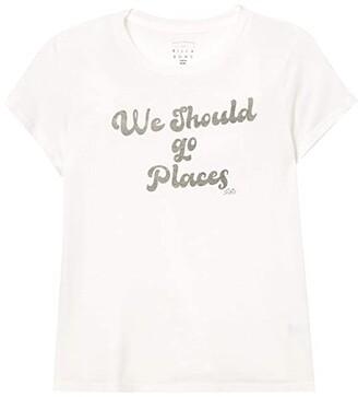 Billabong Kids Lets Go Places Tee (Little Kids/Big Kids) (Salt Crystal) Girl's Clothing