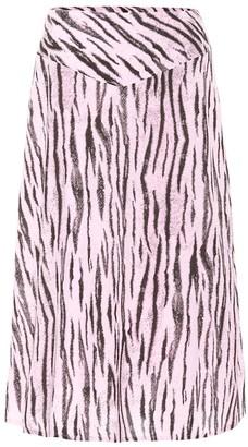 Baum und Pferdgarten Exclusive to Mytheresa Senga tiger-print midi skirt