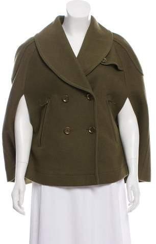 Burberry Wool Poncho Coat