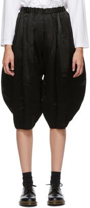 Comme des Garçons Comme des Garçons Black Silk Trousers