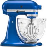 KitchenAid Kitchen Aid Artisan Design Series 5 Quart Tilt-Head Stand Mixer with Glass Bowl - KSM155GBEB