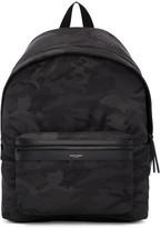 Saint Laurent Black Camo City Backpack