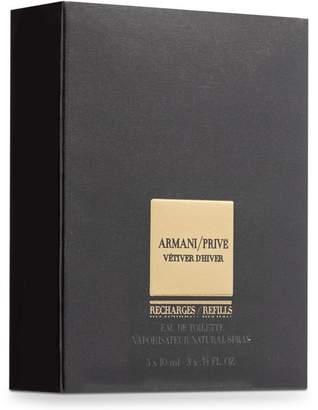 Giorgio Armani Prive Vetiver Dhiver Eau De Toilette Vaporisateur Natural Spray Refill Bottles