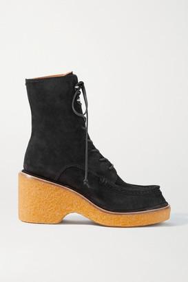 Rag & Bone Scout Suede Platform Ankle Boots - Black