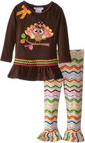 Bonnie Jean Little Girls Thanksgiving Pilgrim Turkey Legging Set