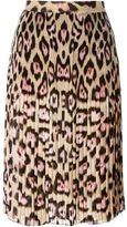 Givenchy leopard print skirt - women - Silk/Polyester/Acetate - 38