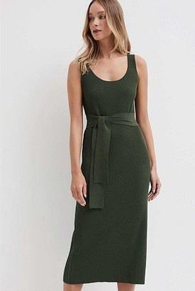 Witchery Belted Scoop Knit Dress