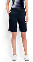 "Lands' End Women's Mid Rise 10"" Chino Shorts-Deep Sea Blossom"