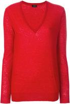 Joseph V-neck knitted top - women - Cashmere - XS