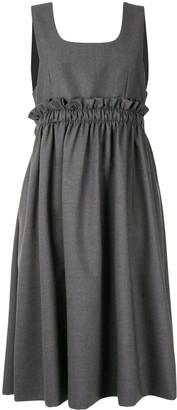 Comme des Garcons Ruffled Pinafore Midi Dress