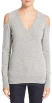 Autumn Cashmere Women's Cashmere Cold Shoulder Sweater