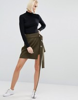 Weekday Press Pack Wrap Skirt