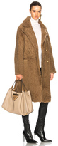 Yves Salomon Shearling Coat in Brown,Neutrals.