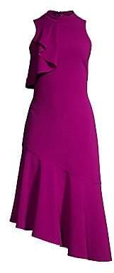 Parker Black Women's Maggie Ruffled Sleeveless Asymmetrical Dress