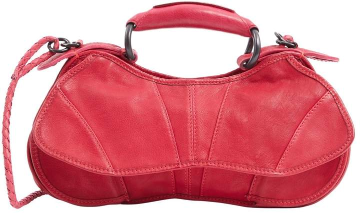CNC Costume National Red Leather Handbag