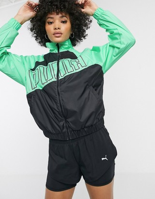 Puma logo jacket in green