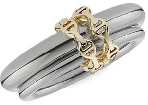 Spinelli Kincollin x Hoorsenbuhs Virgo HB 18K Black & Yellow Gold 2-Link Ring