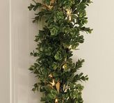 Pottery Barn Indoor/Outdoor Lit Boxwood Garland