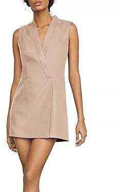 BCBGMAXAZRIA Caryn Faux-Leather Wrap Dress
