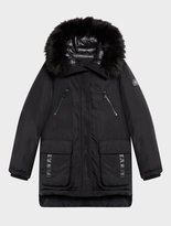 DKNY Prato Twill Puffer With Quilted Back