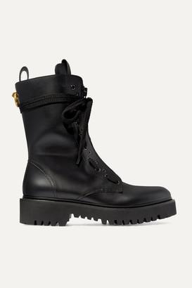 Valentino Garavani Ringstud Leather Ankle Boots - Black