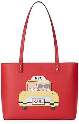 Karl Lagerfeld Paris Faux Leather Shoulder Bag