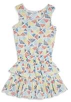 Splendid Girls' Printed Ruffle Dress - Big Kid