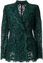 Dolce & Gabbana double breasted lace blazer