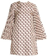 Valentino Double V-Logo Silk Shift Dress