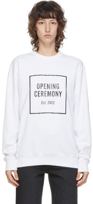 Opening Ceremony White Box Logo Sweatshirt