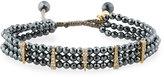 Tai Beaded Bracelet, Hematite