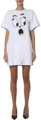 Moschino Pumpkin Face T-Shirt Dress