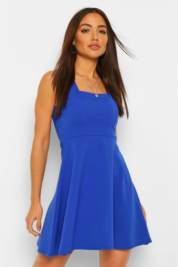 Thumbnail for your product : boohoo Square Neck Skater Dress