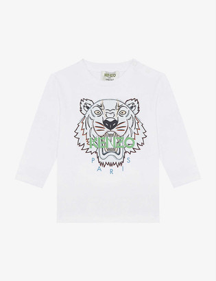 Kenzo Tiger print cotton-jersey T-shirt 6 months - 3 years