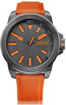 Hugo Boss Orange Watches New York Grey Face Nylon Strap Watch