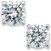 X3 Certified Diamond Stud Earrings in 18k White Gold (1-1/2 ct. t.w.)