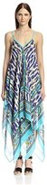 Theodora & Callum Women's Cheetah Paisley Scarf Dress