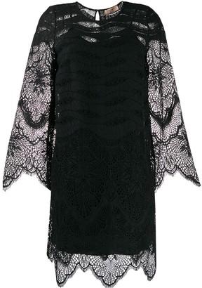 Twin-Set Lace Scallop-Trimmed Mini Dress