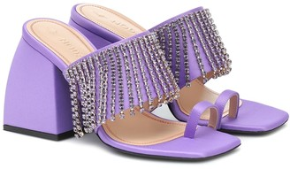 Nodaleto Exclusive to Mytheresa Preston embellished satin sandals