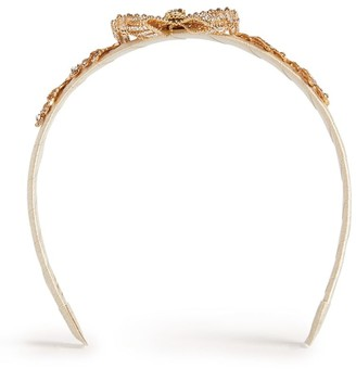David Charles Leaf Bow Hairband