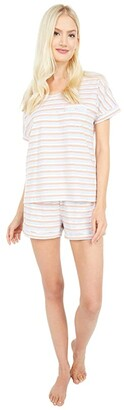 Pact Organic Cotton Sleep Set (Arctic Stripe) Women's Pajama Sets