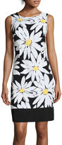 Ronni Nicole Sleeveless Daisy Print Shift Dress