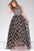 Jovani Prom Ballgown With Floral Appliques 45732