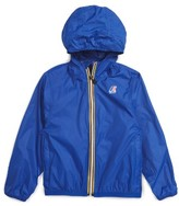 K-Way Toddler Boy's 'Claude 3.0' Hooded Waterproof Windbreaker Jacket