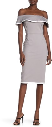 Love by Design Sierra Off-The-Shoulder Bodycon Knit Dress