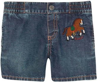 Gucci Denim Shorts With Frontal Application