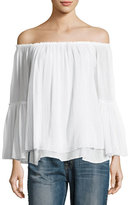 Bailey 44 Bahama Off-the-Shoulder Layered Top, White