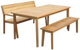 3 Piece Cremona Outdoor Dining Table & Bench Set