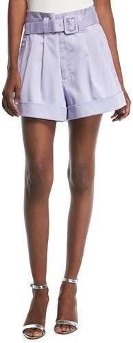Marc Jacobs Belted High-Waist Shorts